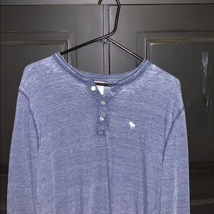 Abercrombie and Fitch Blue Long Sleeve